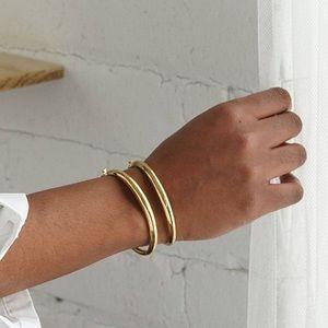 Mejuri Dôme Set Of 2 Bracelets 18K Gold Vermeil